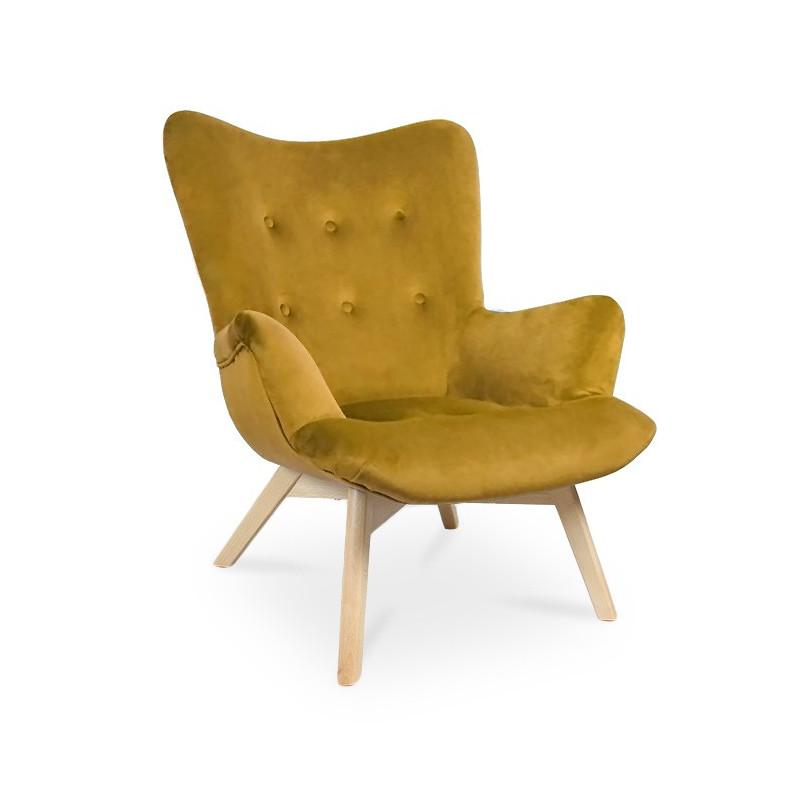 Fotel ANGEL miodowy/ noga buk/ KR01