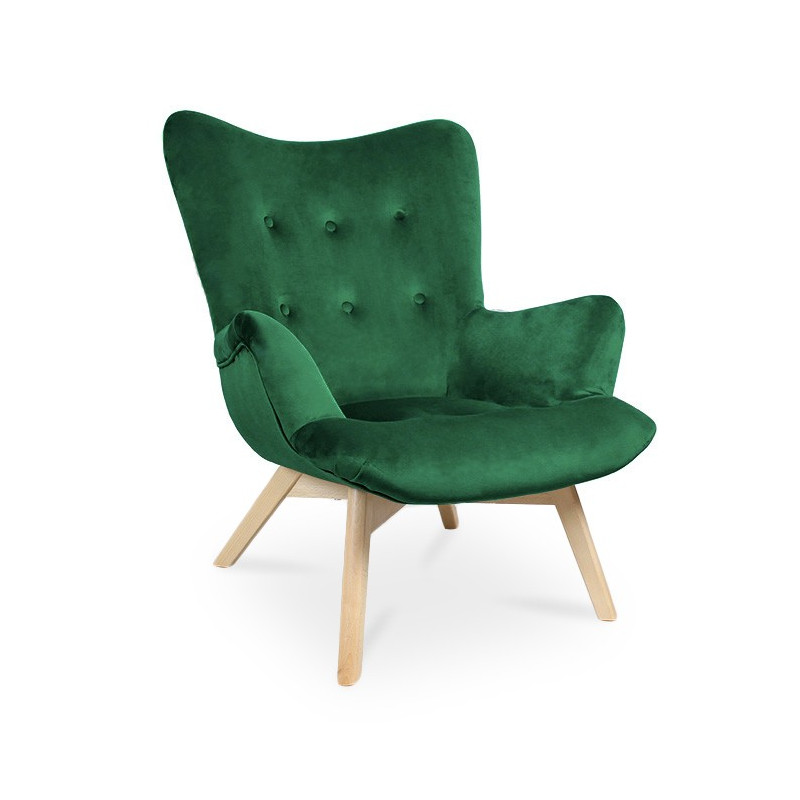 Fotel ANGEL zielony / noga buk / KR19